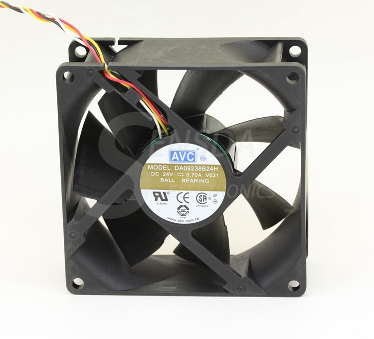 AVC DA09238B24H -018 DC 24V 0.7A 92x92x38mm computer server inverter Server Square cooling Fans 3-Wire