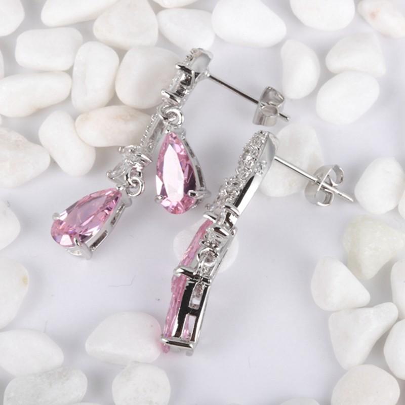 shunxunze розовый долго начать женские серьги для женщин ювелирные изделия для cubic zirconia проблемка товар аксессуары мода серьги арос e4072