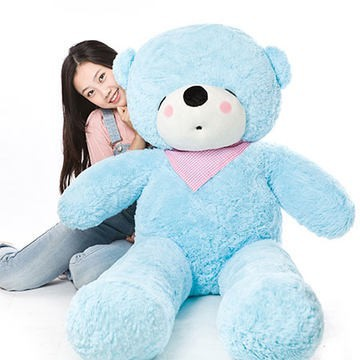 Stuffed Animal 47 Inch Sky Blue Sleeping Teddy Bear Plush Toy Soft