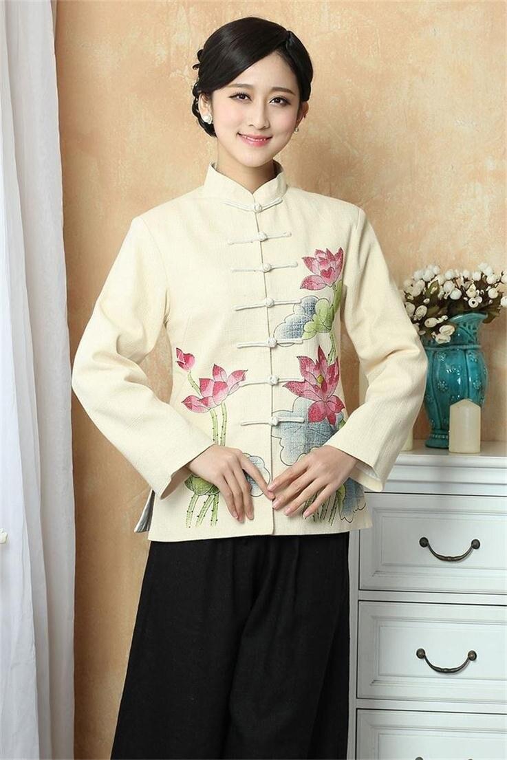 215db0ca7 ᗖالأزياء الصينية الربيع سترة المرأة ملابس السيدات سترة معطف قميص ...