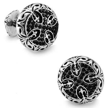 Спарта белого золота гальваническим+ черный кристалл Австрия зажимы для галстуков мужские Зажимы для галстука+! Высокое качество металла