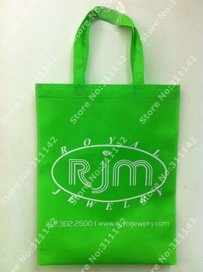Заказная Нетканая сумка зеленая сумка хозяйственная сумка с бесплатной доставкой по FedEx 500 шт/партия