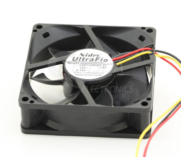 NIDEC U80T12MUB7-53 8025 8cm 80mm DC 12V 0.19A server inverter axial cooling fans