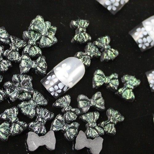 10*7 мм Бант дизайн, пластик плоские бусины для нейл-арта, Скрапбукинг DIY 200 шт