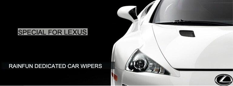 """Резиновые автомобильные стеклоочистители RAINFUN для Lexus LS600HL, мягкий стеклоочиститель 2""""+ 18"""""""
