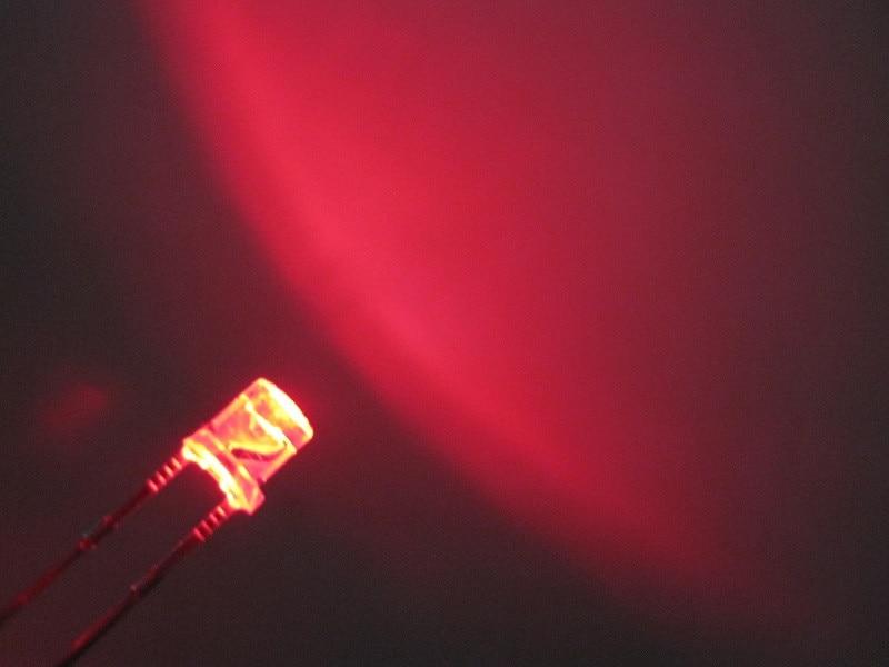 emissor de luz 3mm grande grande ângulo led vermelho