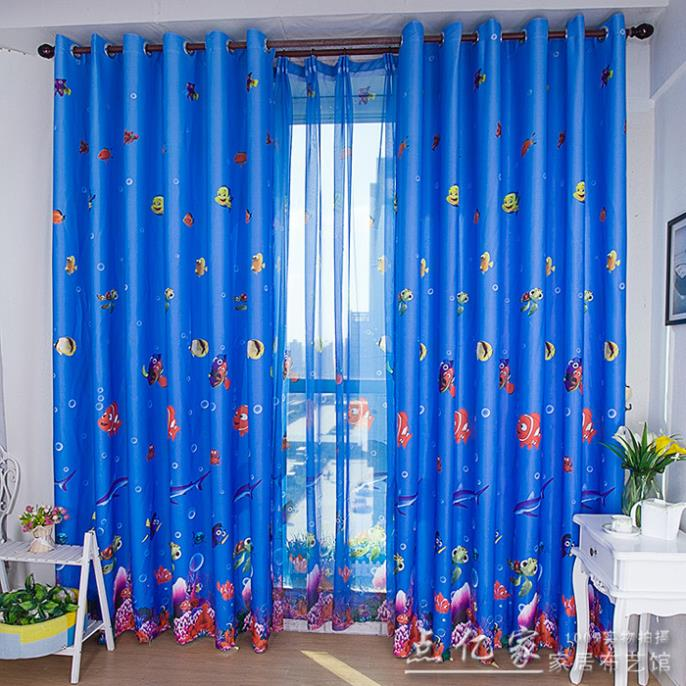 Home Decor Childrenu0027s Blackout Curtains Environmental Underwater World Of  Anime Cartoon Boy And Girl Bedroom Curtain 4 Colors