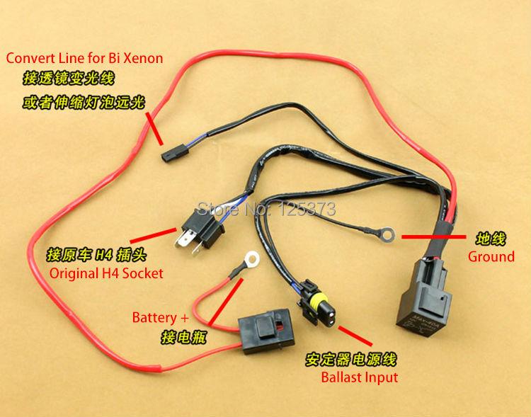 HL1M9nPFJ4aXXagOFbXx aliexpress com buy free shipping xenon hid conversion relay h4 to h1 wiring harness at n-0.co