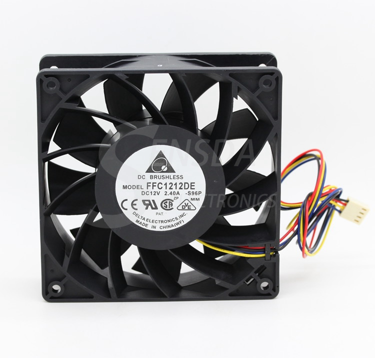Delta FFC1212DE -S96P 12CM 1mm 138 DC 12V 2.4A industrial server inverter power supply cooling fans