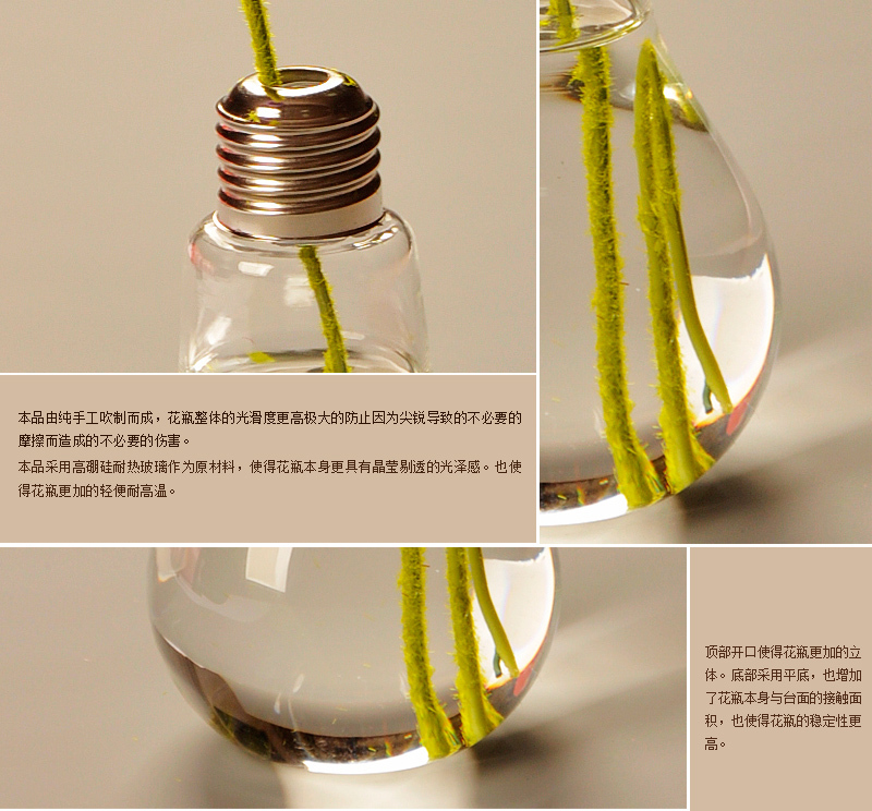 Home Decor Shining Light Wedding Decoration Light Bulb Transparent