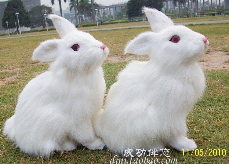 Simulação animal 22x15x13 cm coelho branco brinquedo