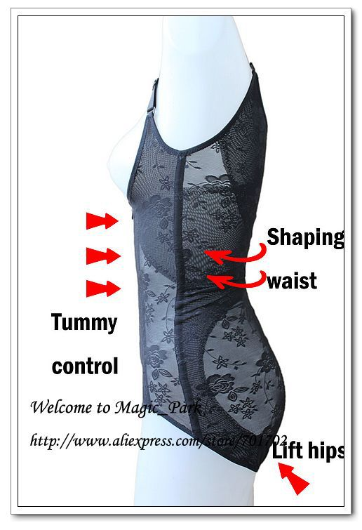 Magic Body Shaper Full Body Shapers For women Plus Brief Bodysuits Lift Butt Shapewear Black Hot Body Shapers Underbust Asian Sz (9).jpg