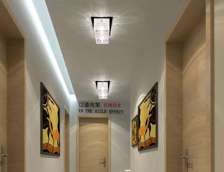 2w Crystal Ceiling Lamps Corridor Light