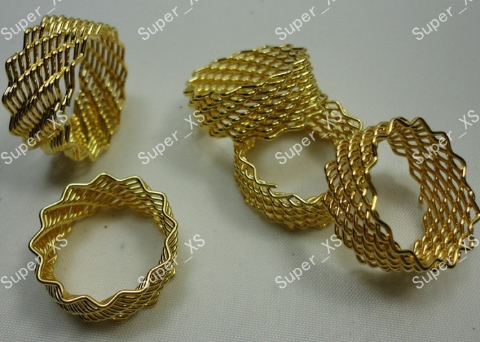 8pcs Gold Color Iron Spring Rings Wholesale Jewelry Fashion Lots