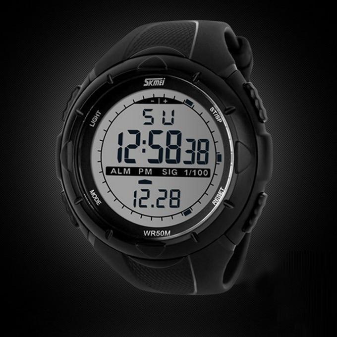18 New Skmei Brand Men LED Digital Military Watch, 50M Dive Swim Dress Sports Watches Fashion Outdoor Wristwatches 14