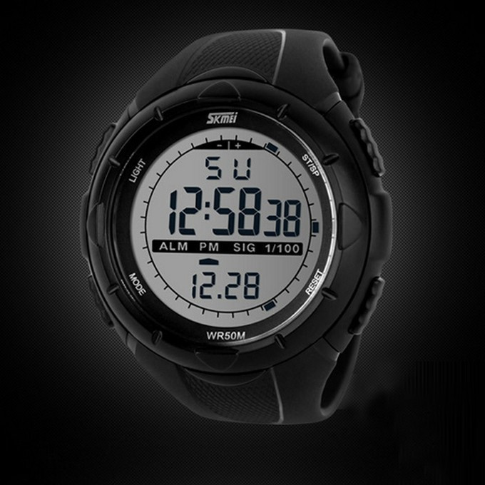 18 New Skmei Brand Men LED Digital Military Watch, 50M Dive Swim Dress Sports Watches Fashion Outdoor Wristwatches 14