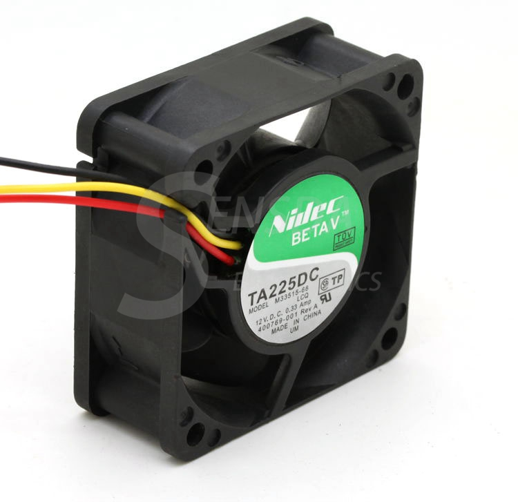 Nidec TA225DC 60mm 6cm M33515-68 DC 12V 0.33Amp 3-pin 3-wire server inverter cooling fans