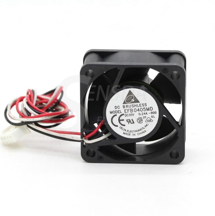 Для delta EFB0405MD-R00 4020 4 см 40 мм DC 5V 0.24A 3-контактный инвертор сервер скорость компьютер cpu вентилятор осевой вентилятор охлаждения
