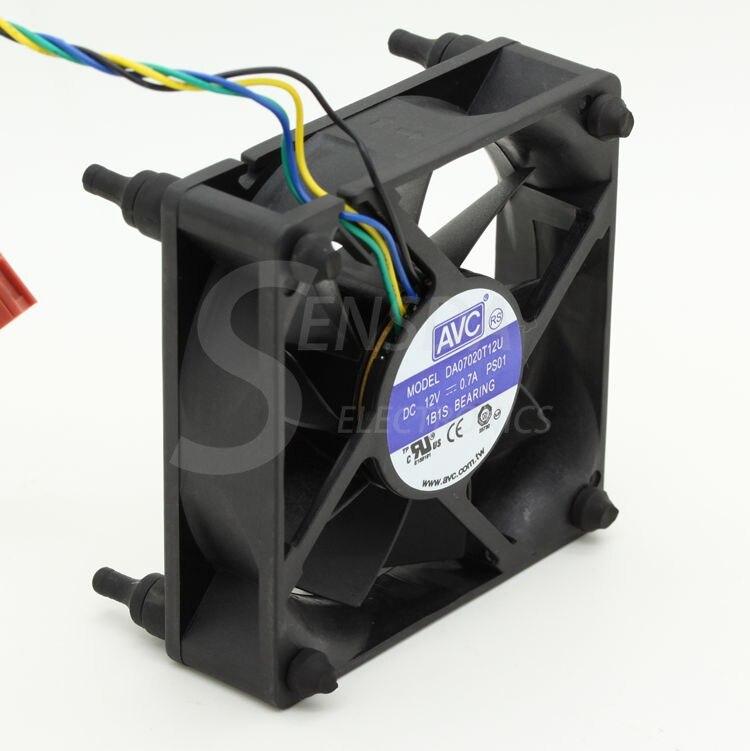 Для AVC DA07020T12U 7 см 70 мм Корпус Для ЦПУ Охлаждающие вентиляторы 7020 DC 12V pwm tempreture cooler
