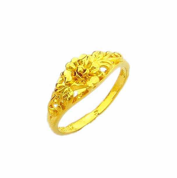 New Arrival Fashion 24K GP gold color Mens&Women Jewelry Ring
