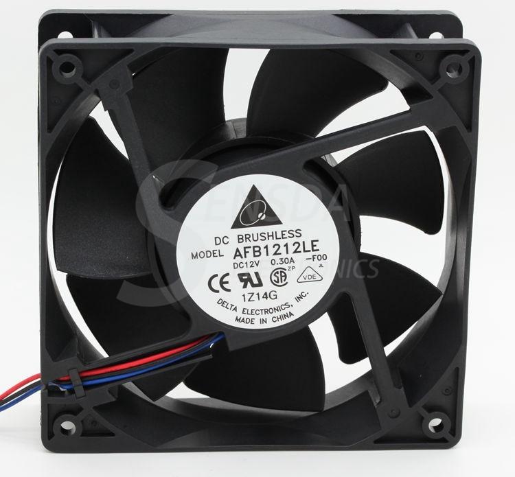 Delta AFB1212LE -F00 125 12cm 1mm DC 12V 0.30A Computer cpu case axial cooling fans