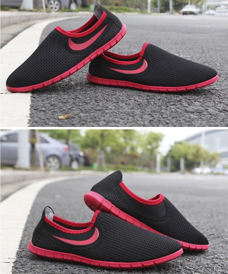 лето спорт мужчины обувь воздухопроницаемый мужчины квартиры свободного покроя мягкий мужчины сандалии мужчины кроссовки