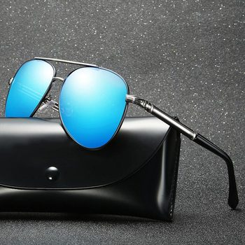 db1a86c596 Gafas de sol polarizadas piloto clásico BAVIRON para hombre 100% uva uvb  gafas de sol para hombre
