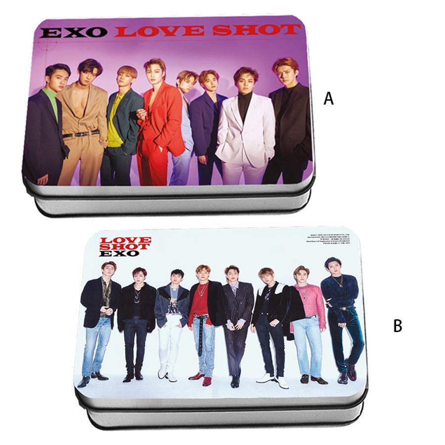 Kpop EXO Love Shot Polaroid Lomo Photo Card New Album Chanyeol D O HD Collective Photocard