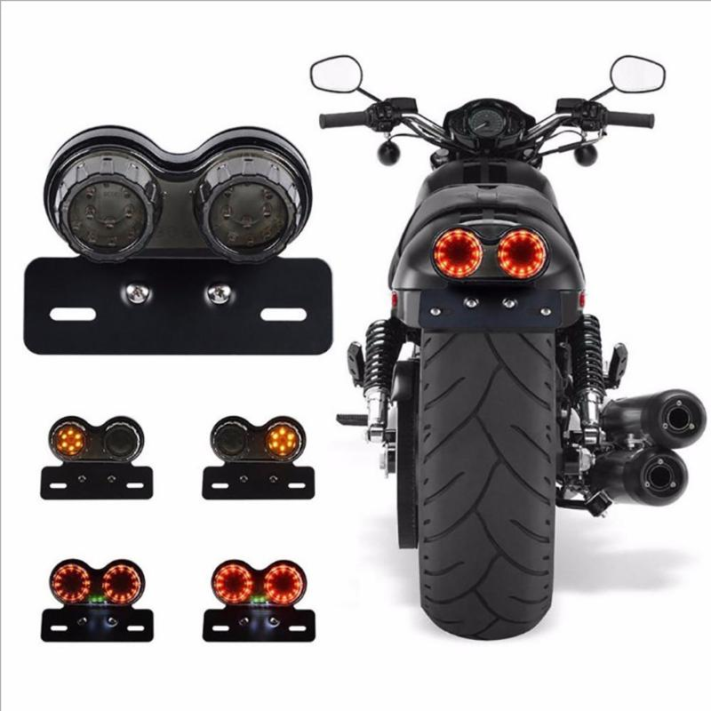Motorcycle Turn Signals Clignotant Moto Led Retro Cruise Dual LED Tail Light Integrated Rear Stop Brake Lamp