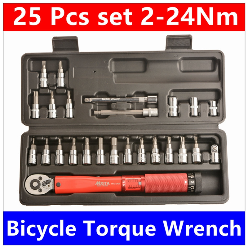 Hot MXITA Torque Wrench Bicycle Cycling Tool Set Set Tool Bicycle Repair Wrench Set Manual Tool