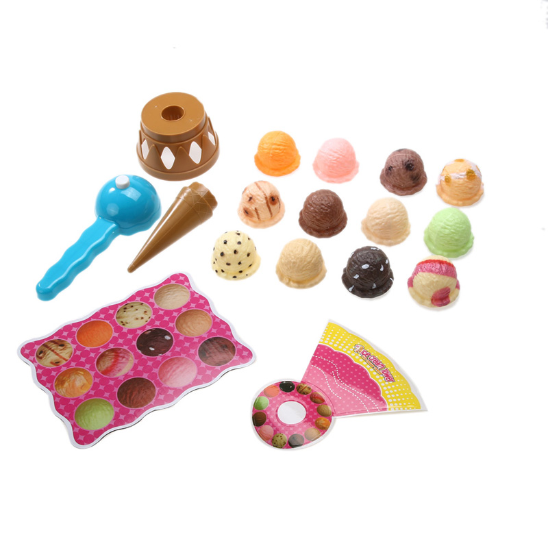 Kids Pretend Play Toys Simulation Food Kitchen Toy Children Ice Cream Stack Up Play Tool Children Educational Toys Girls Gifts