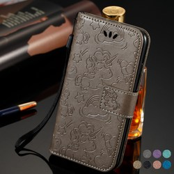 Luxury Flip Case For iPhone 6 6S 7 8 Plus Printed PU Leather Card Slot Wallet Stand Cover CASE iphone 6+ 6s+ 7+ 8+ embossed case 1