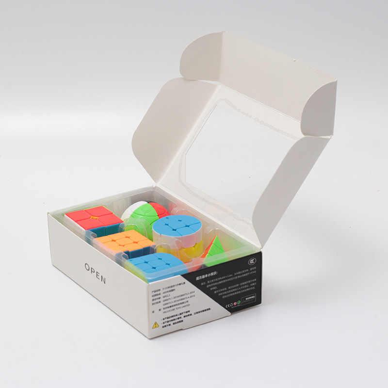 Zcube Пряжка для ключей, Магический кубик, 6 шт Набор подарочных коробок маленький куб 30 мм мини-магический куб Oxyphylla Развивающие игрушки для детей
