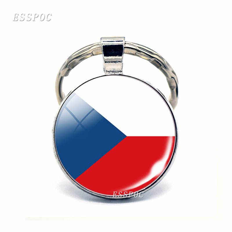 Europa Central: Austria, Polonia, Alemania, Suiza, Eslovaquia, bandera, llavero de joyería de cristal, colgante, regalo Nacional Patriota