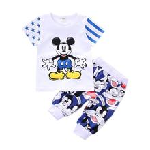 Fashion Summer Baby Girls Boys Clothing Suits Toddler Cotton Tracksuit Kids T-shirt Shorts 2Pcs/set Infant Newborn Clothes Sets 2016 new 2pcs toddler baby girls infant outfits tops t shirt skirt dress kids clothes set tracksuit for girls clothing sets