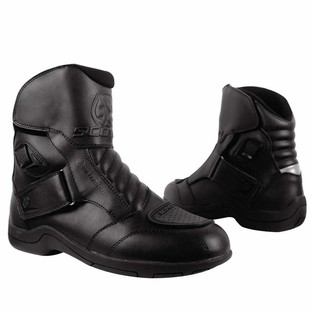 SCOYCO мото моторная лодка мотоциклист Байкер мотоциклетные ботинки botas ботинки мотоциклетные мужские ботинки для верховой езды мотоциклетные ботинки