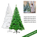 1.2/1.5/1.8/2.1M Christmas Tree With Iron Stand Holder Green/White Dense Style For Home Party Christmas Decoration Ship from UK