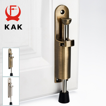 Palanca de pie de aleación de Zinc de KAK, Tope de puerta ajustable s, soporte de bronce para puerta, herrajes de Tope de puerta, accesorios de Tope de puerta