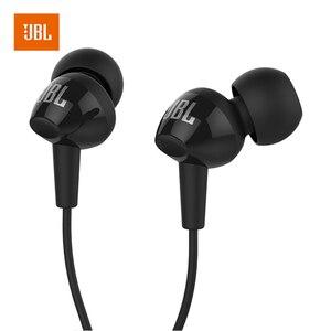 Image 1 - JBL C100SI 3,5mm Wired Kopfhörer Stereo Musik Headset Dynamische Kopfhörer Hände freies mit Mic fone de ouvido JBL ohrhörer