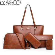 Женская сумка через плечо и сумочка, женская сумка с заклепками, женская кожаная сумка bolsa feminina, дизайнерский бренд MIWIND, весна, новое поступление