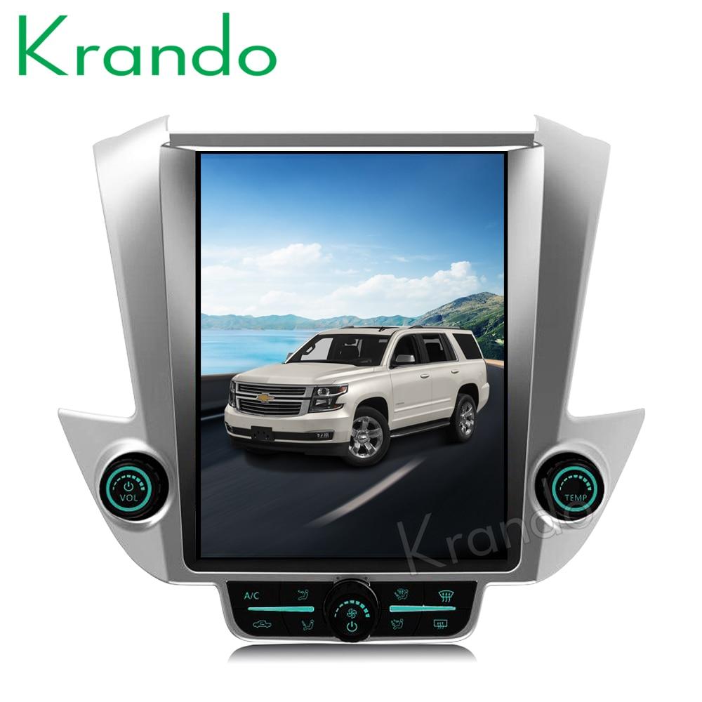 Krando Android 7 1 12 1 Tesla Vertical car radio For GMC Yukon Chevrolet Tahoe Suburban