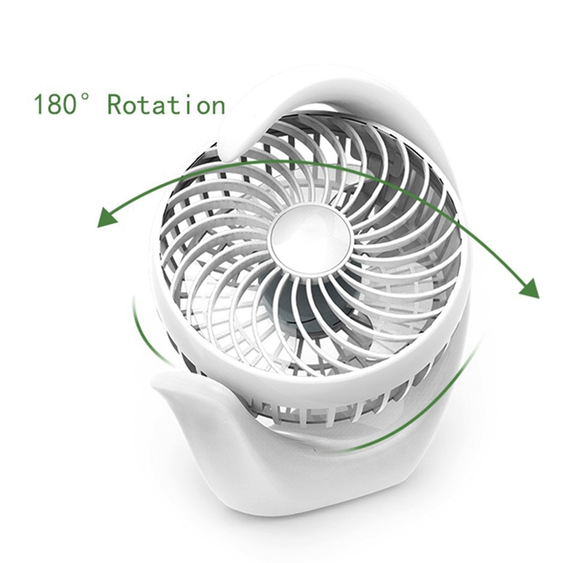 HOT Rechargeable Battery Operated Fan With 3 Speeds Strong Wind Long Battery Life Quiet Operation Small Usb Desk Fan Port in Fans from Home Appliances