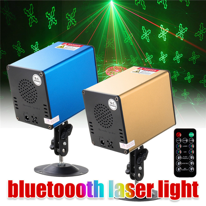 Laser Projector LED Light Show Sound Activated DJ Laser Lights Machine Party Lamp Home Christmas Disco Holiday Event