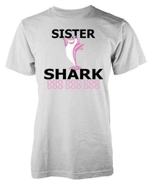 Sister Baby Shark Doo Family Adult T Shirt Cartoon t shirt men Unisex New Fashion tshirt free shipping funny tee tops