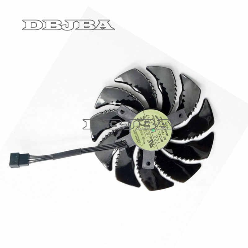 88mm T129215SU Card Đồ Họa Làm Mát Fan Đối Với Gigabyte GeForce GTX 1050 Ti RX 480 470 570 580 GTX 1060 g1 Chơi Game Mát (Fan-B)