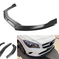 Auto Frontschürze Lip Lower Trim Protector Für Benz W117 C117 CLA45 AMG CLA45AMG CLA180 CLA200 CLA250 2017 2018 Matte schwarz