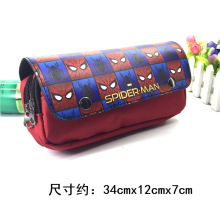 2019 new super hero Spider-Man pen bag pencil box Harry Pencil case  student large capacity double zipper stationery pencil case цена