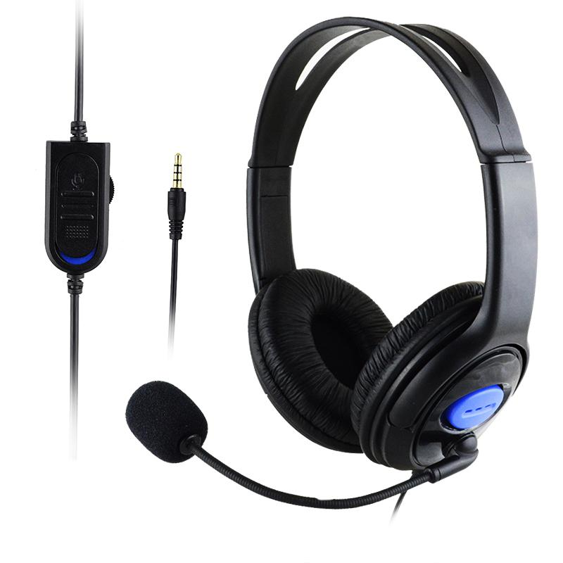 EastVita Wired Gaming Headsets P4-890 Stereo Deep Bass Headphones 3.5mm Foldable Portable Headphone & Mic For PS4/PC Laptop R29