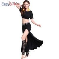 E&A Women's Belly Dance Costume Belt Suit Bellydance Training Dance Dress Dancer Practice Wear Bellydance Costume Set Clothes