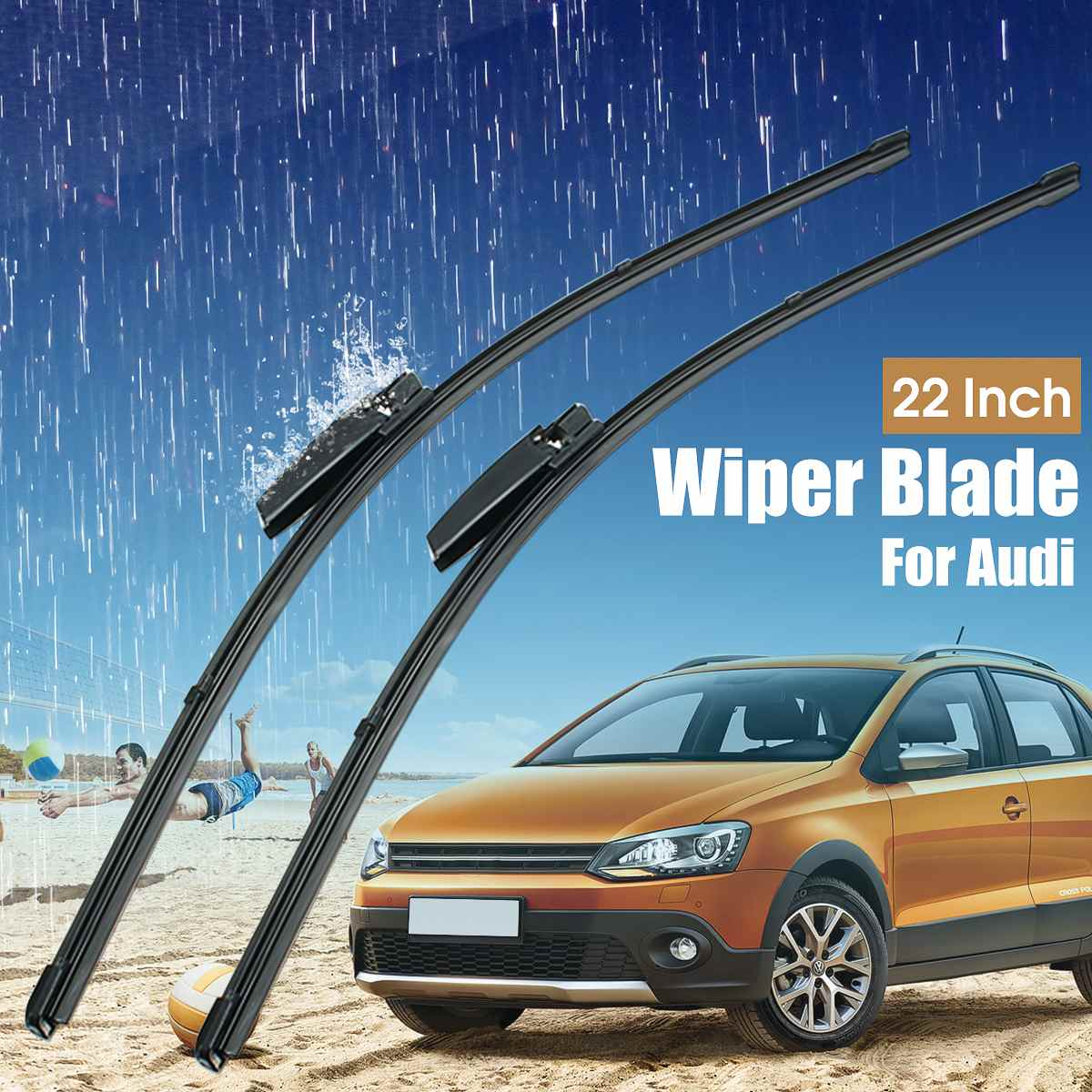 Pair 22inch Car Front Windscreen Wiper Blades For Audi A4
